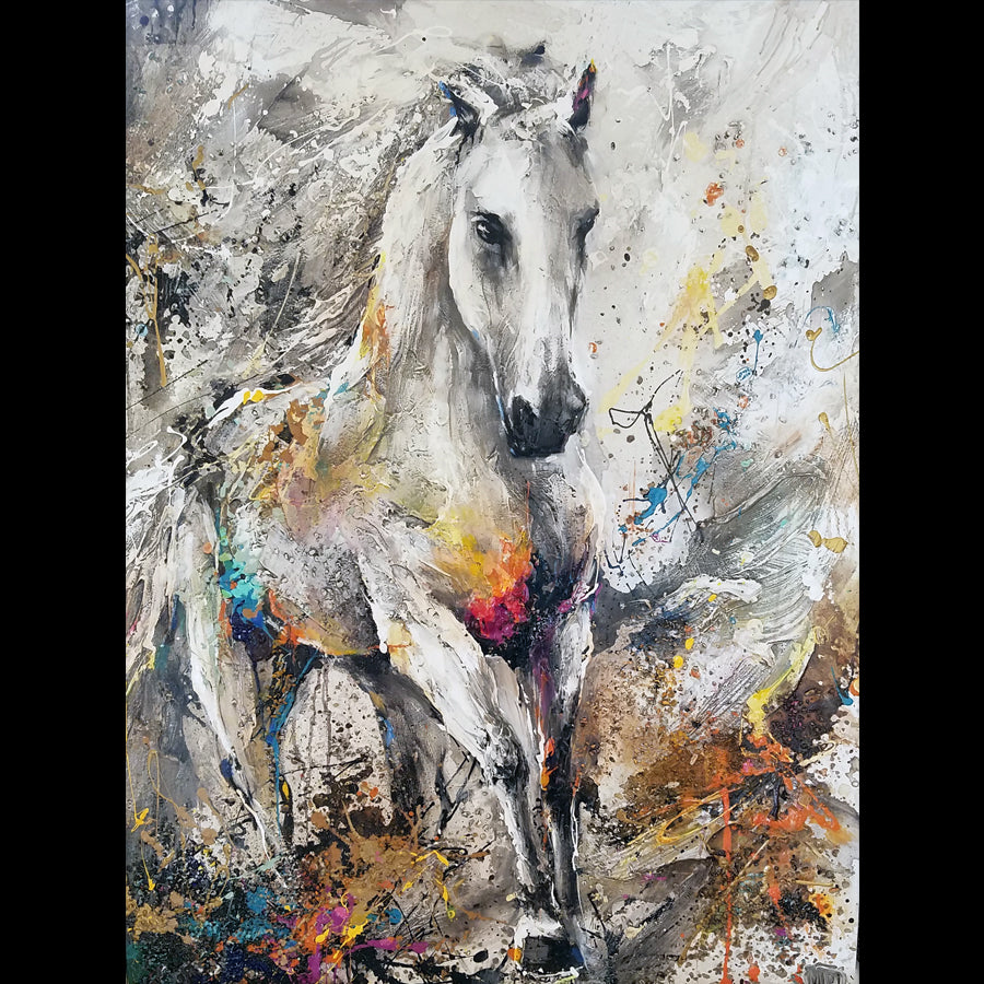 Miri Rozenvain Original Horse Painting: To Move with Grace and Beauty