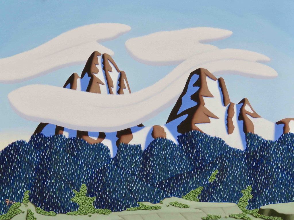 Tracy Felix Original Oil Painting of Mountains: Air Flow