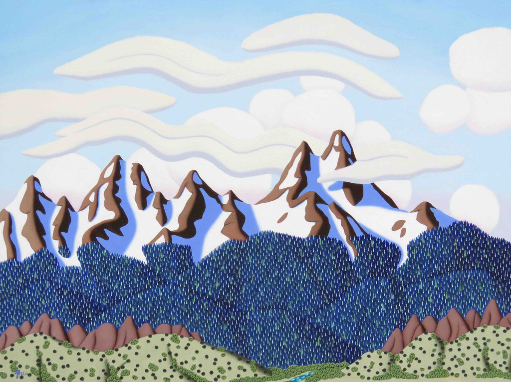 Tracy Felix Original Oil Painting of Mountains: Colorado Front Range