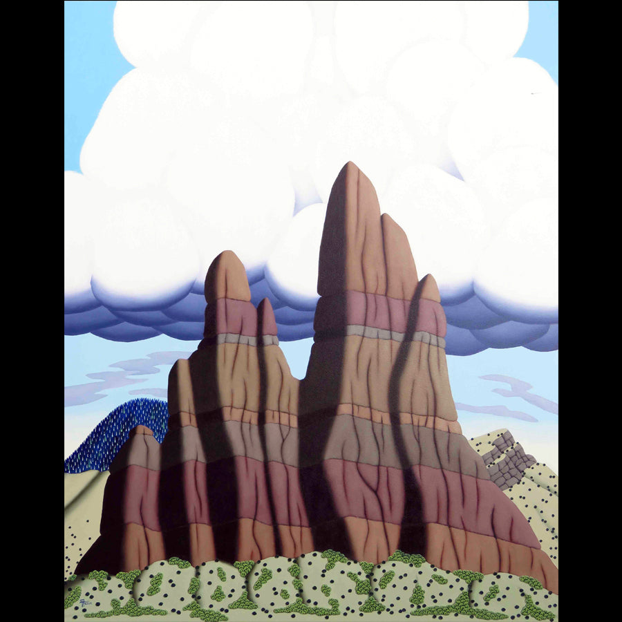 Colorado artist Tracy Felix Original Oil Painting of Mountains: Spires