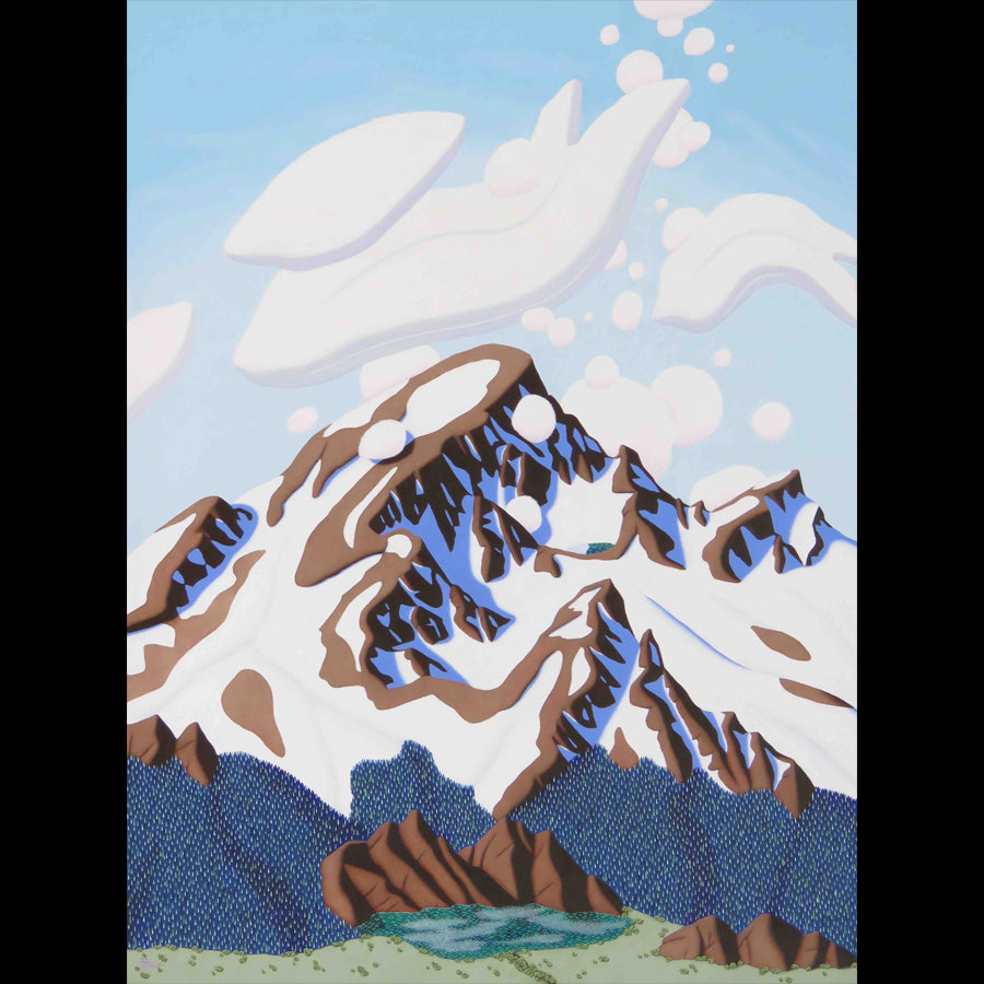 Tracy Felix Original Oil Painting of Mountains: The Crest