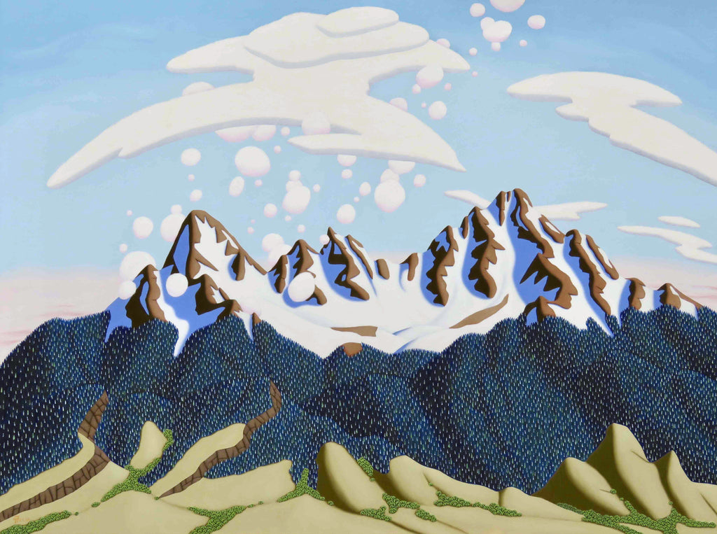 Tracy Felix Original Oil Painting of Mountains: The Gore Range