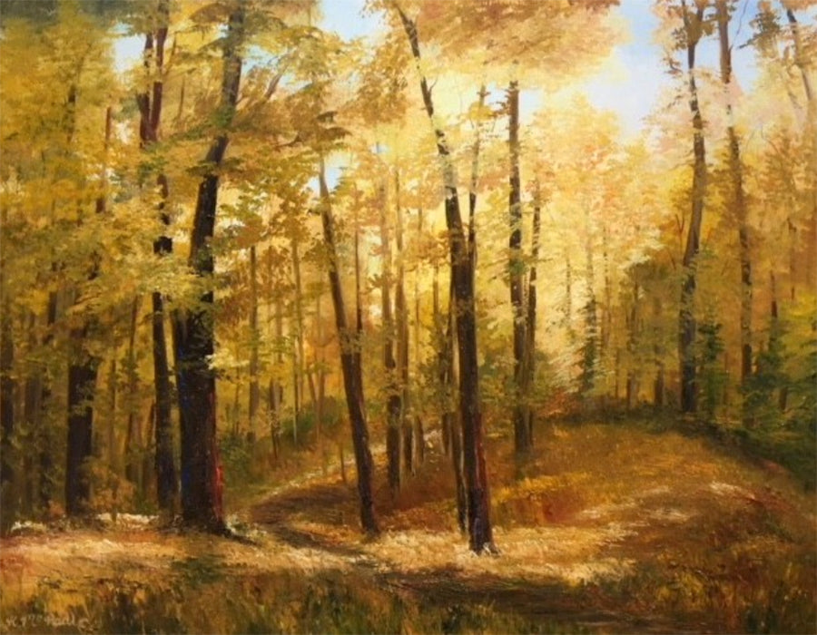 fall painting by artist katherine mcneill