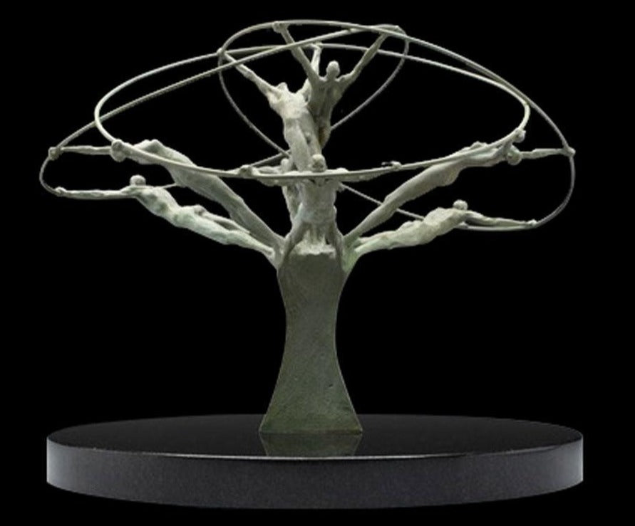 Tree of Life sculpture hoops and rings by artist Clay Enoch