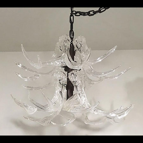 Clear Antler Chandelier