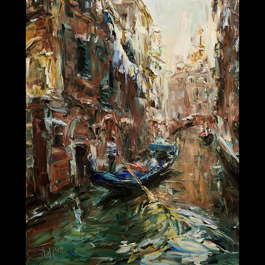 Venetian Song Original Oil on Canvas Painting by Lyudmila Agrich
