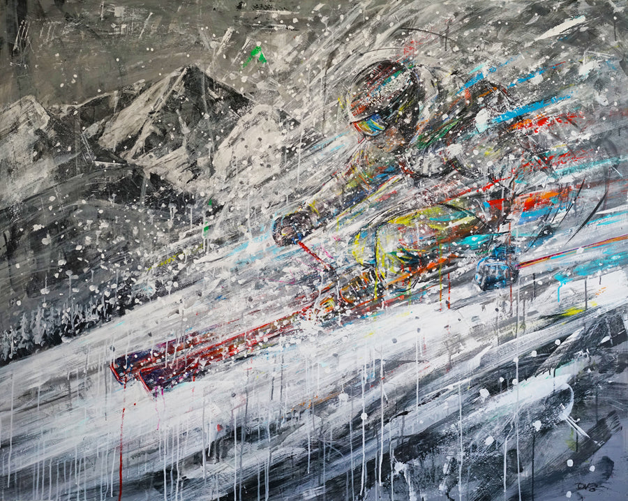 Wild Powder david gonzales ski painting