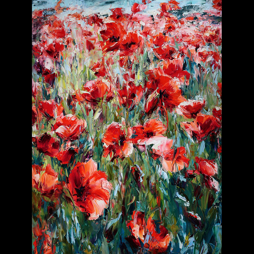 Wild Poppies Painting by Lyudmila Agrich
