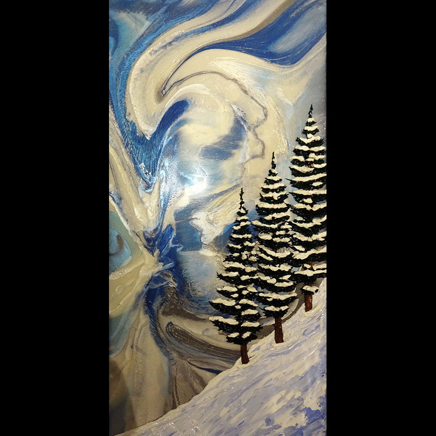Mountain Twist Resin painting artist chris lundy