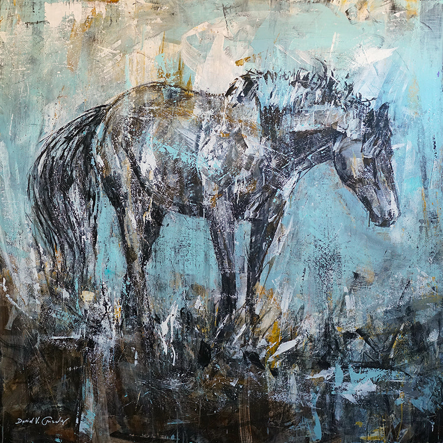 Amigo Horse Painting by Artist David Gonzales