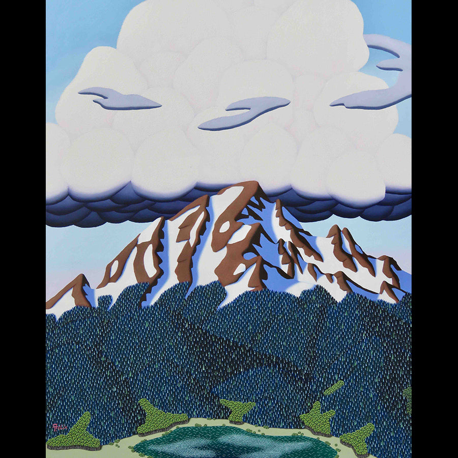 Storm Building original mountain landscape painting by artist Tracy Felix for sale at Raitman Art Galleries