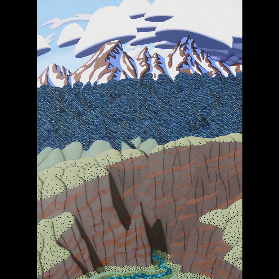 Canyon Walls original mountain landscape painting by Tracy Felix for sale at Raitman Art Galleries located in Breckenridge and Vail Colorado