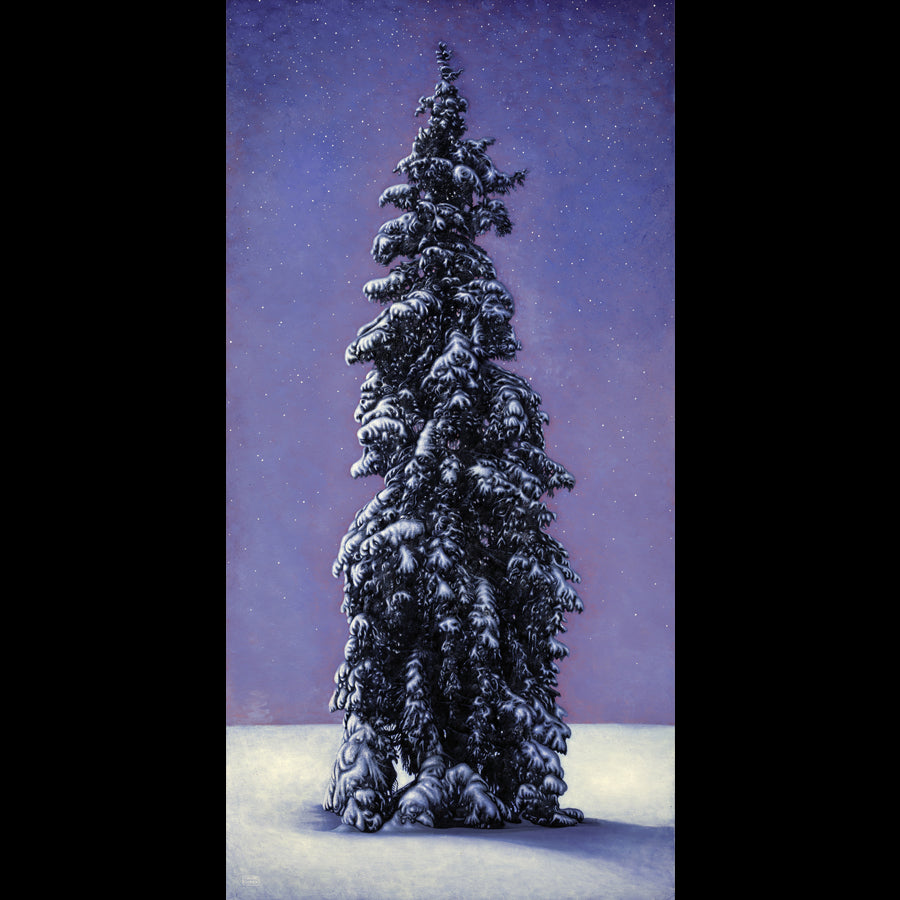 First Snow Original Oil Tree Painting by Artist Thane Gorek