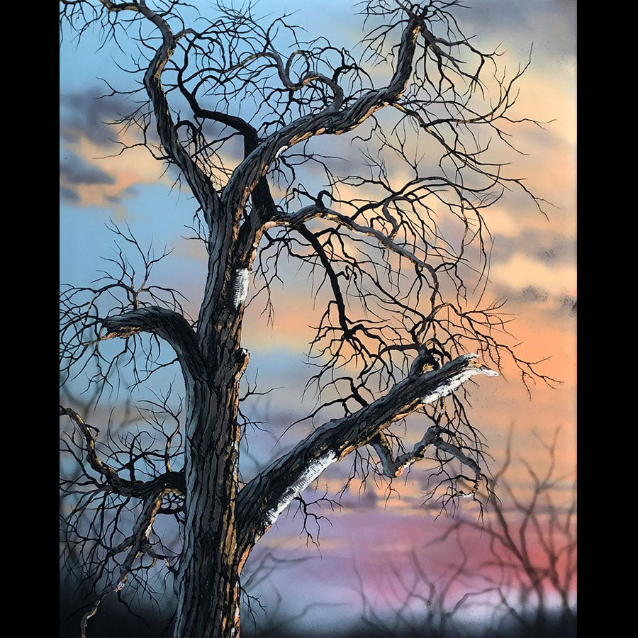 Hangover original tree art by artist Christopher Owen Nelson