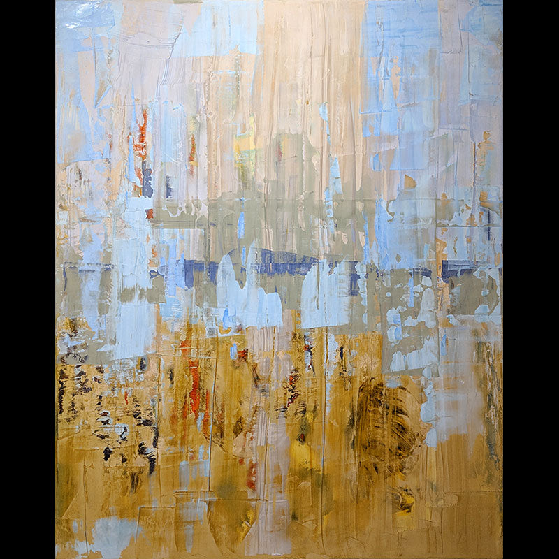 Klondike original oil and Venetian plaster by colorado artist Kristof Kosmowski
