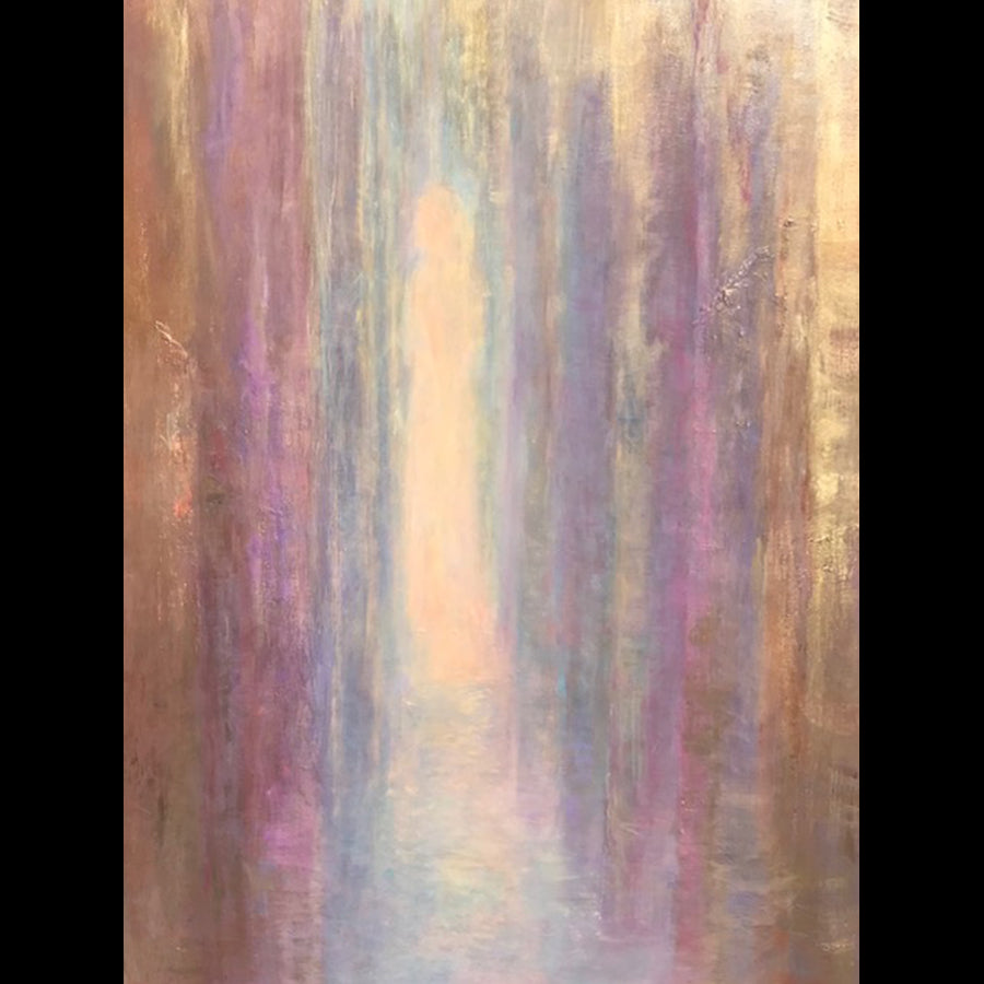 Let Your Light Shine abstract painting by artist judy greenan