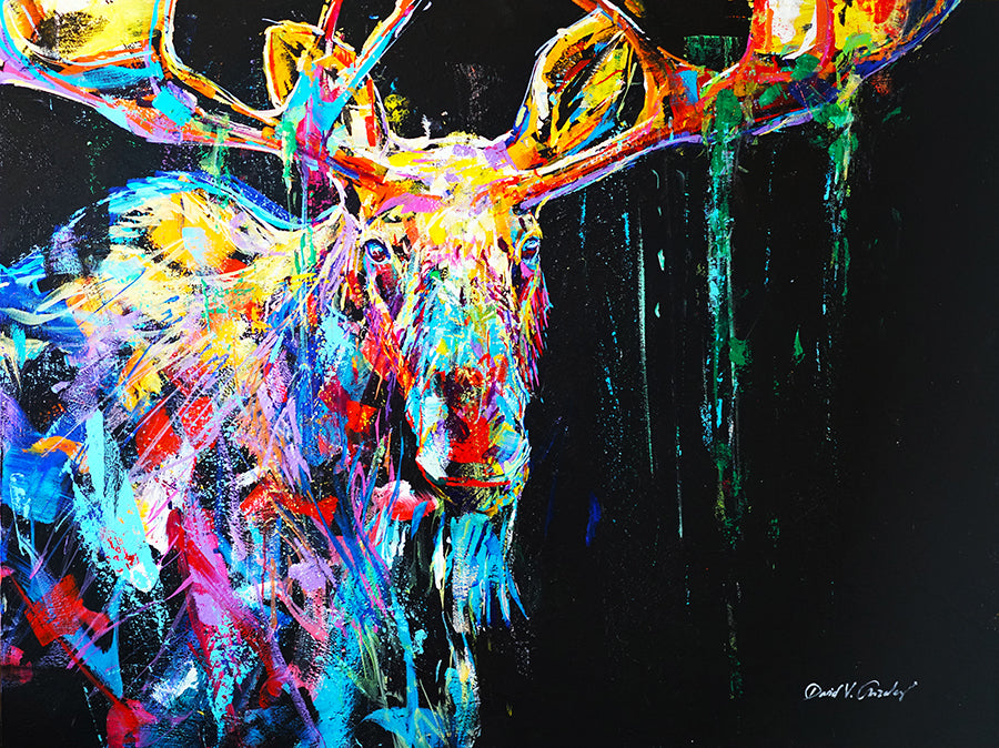 Majestic Moose painting by Artist David V. Gonzales