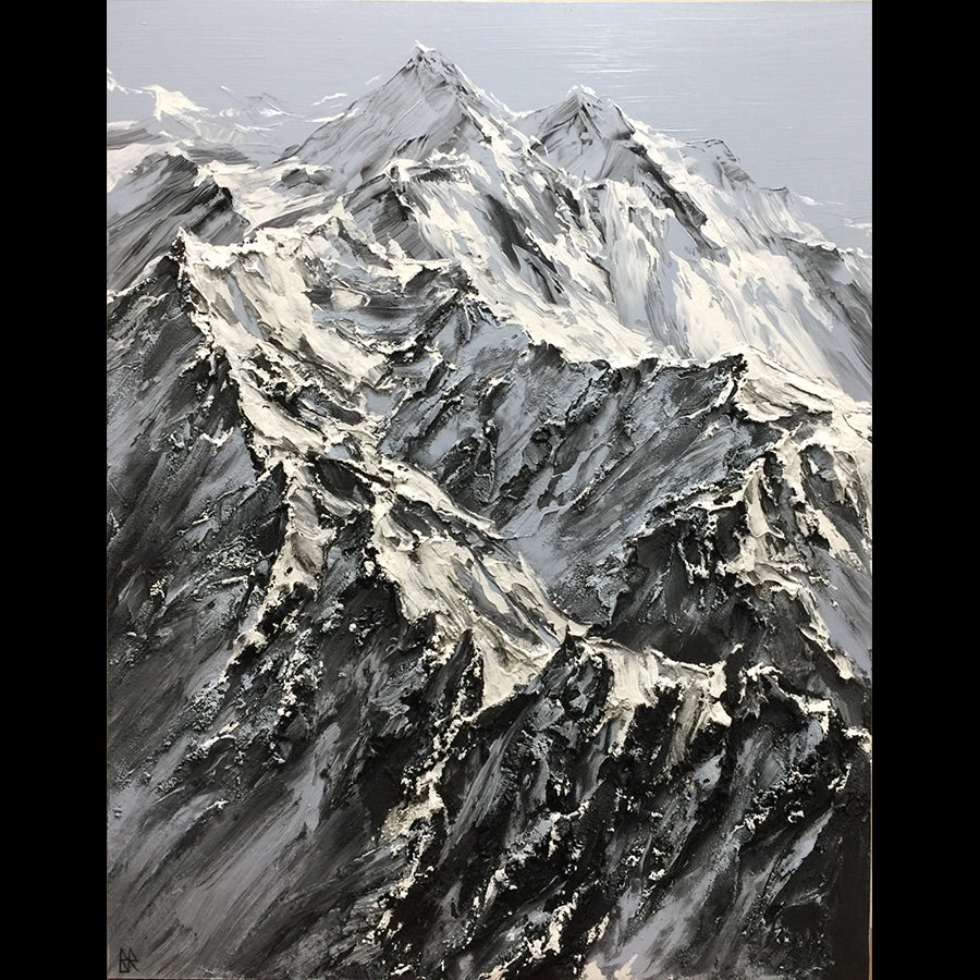 Memorable Views original mountain painting by Barak Rozenvain