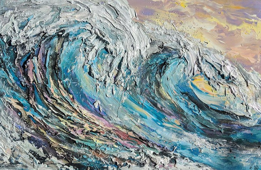 Ocean Breeze wave painting by canadian artist Barak Rozenvain