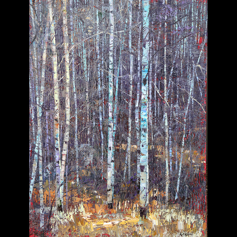 October Stand original aspen forest painting by artist robert moore for sale
