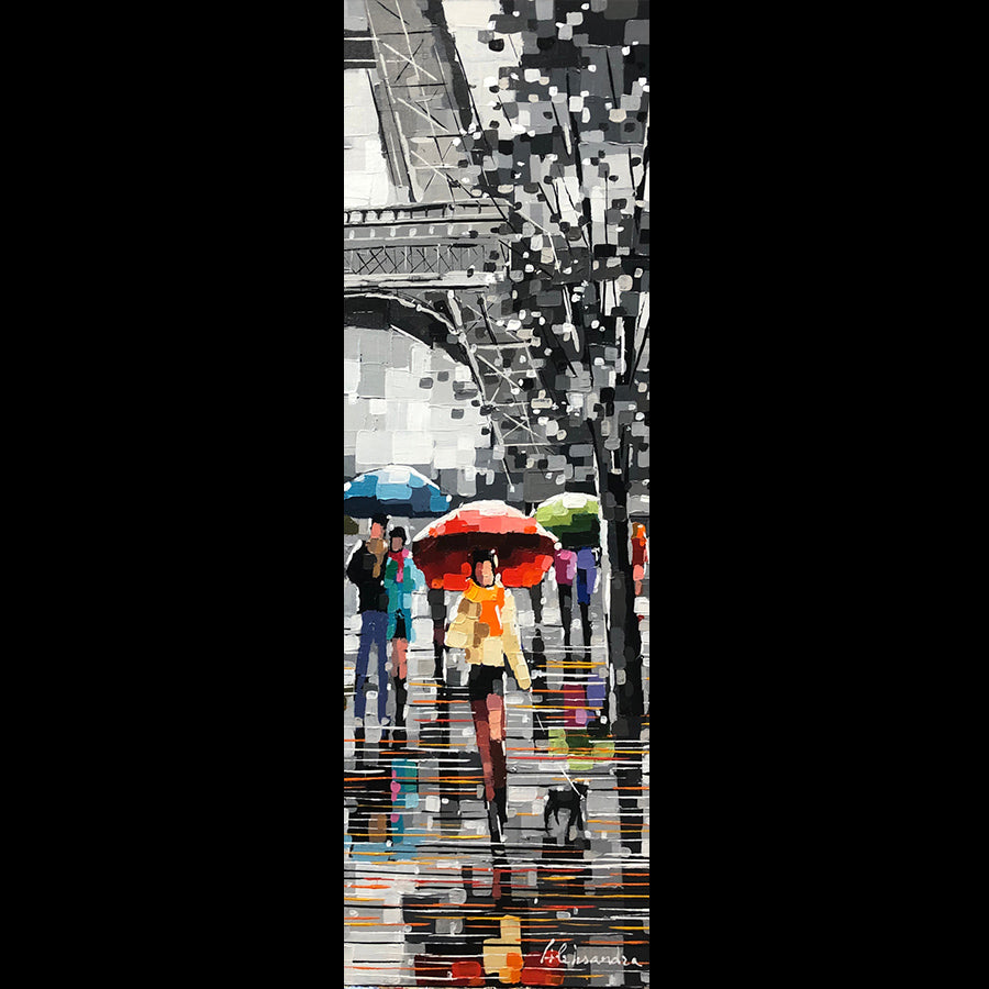 Paris Love Aleksandra Rozenvain painting for sale at Raitman Art Galleries located in Breckenridge and Vail Colorado