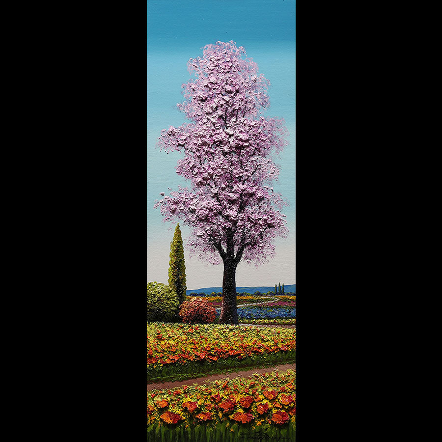 Perfect Pink original oil on canvas landscape painting by artist Mario Jung