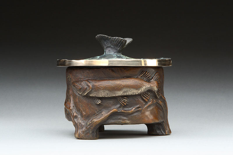 Pike bronze vessel by colorado artist james g moore