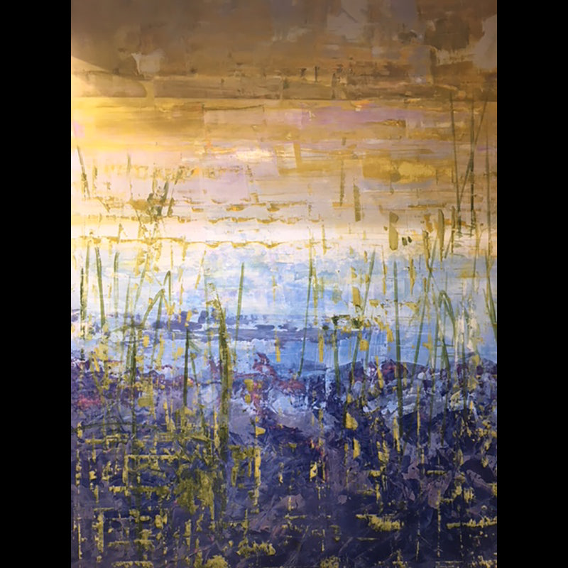 Pond View painting by artist Kristof Kosmowski