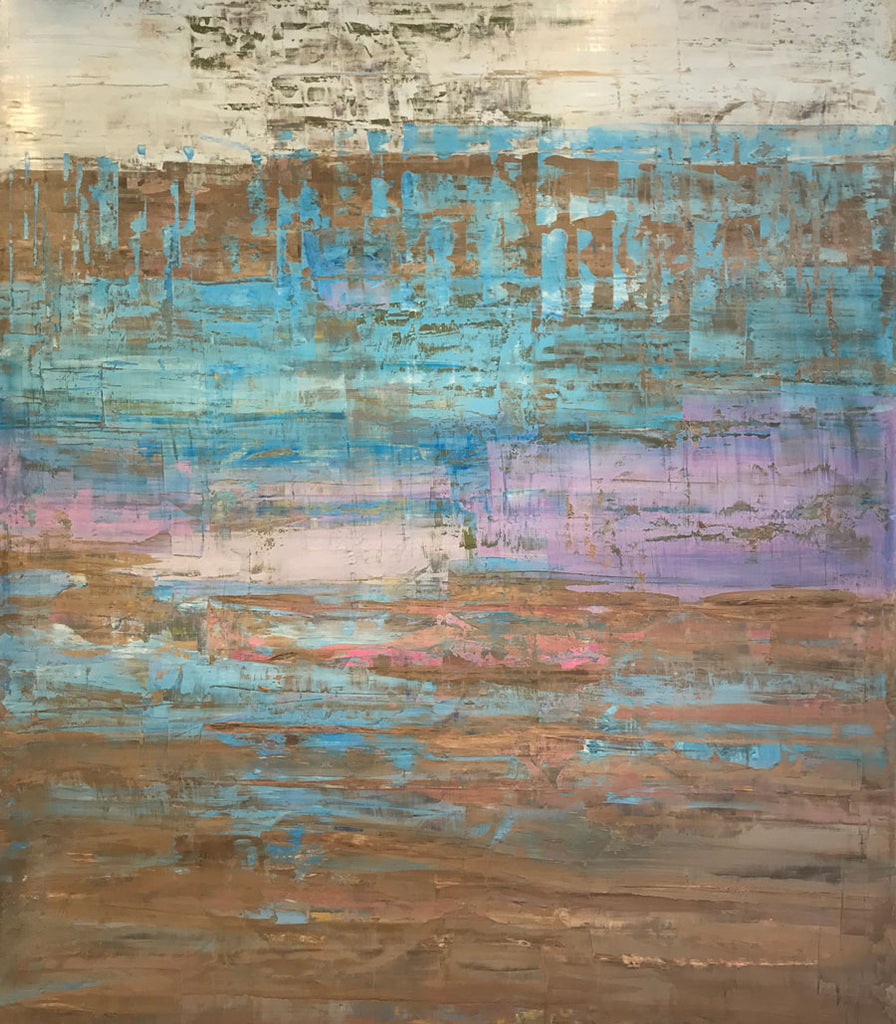 reflect original oil abstract painting for sale by kristof kosmowski