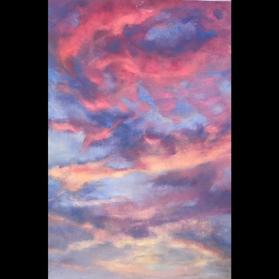 Sky Waltz original oil on canvas painting by Colorado artist Judy Greenan
