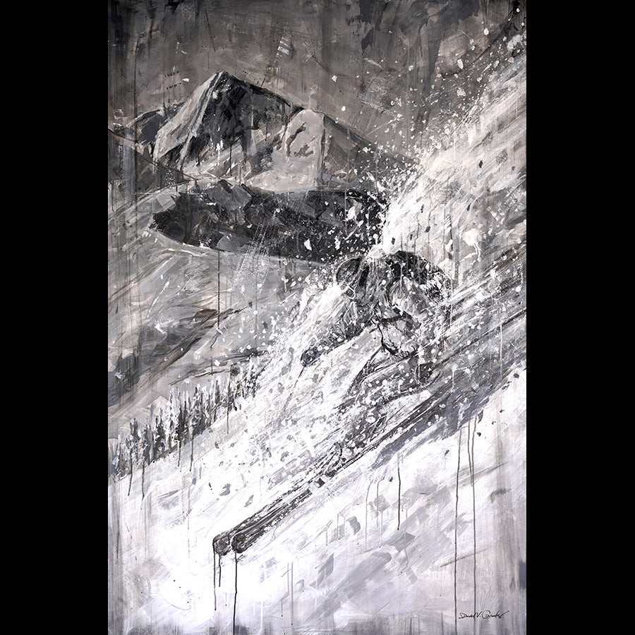 vail skiing painting by artist david gonzales