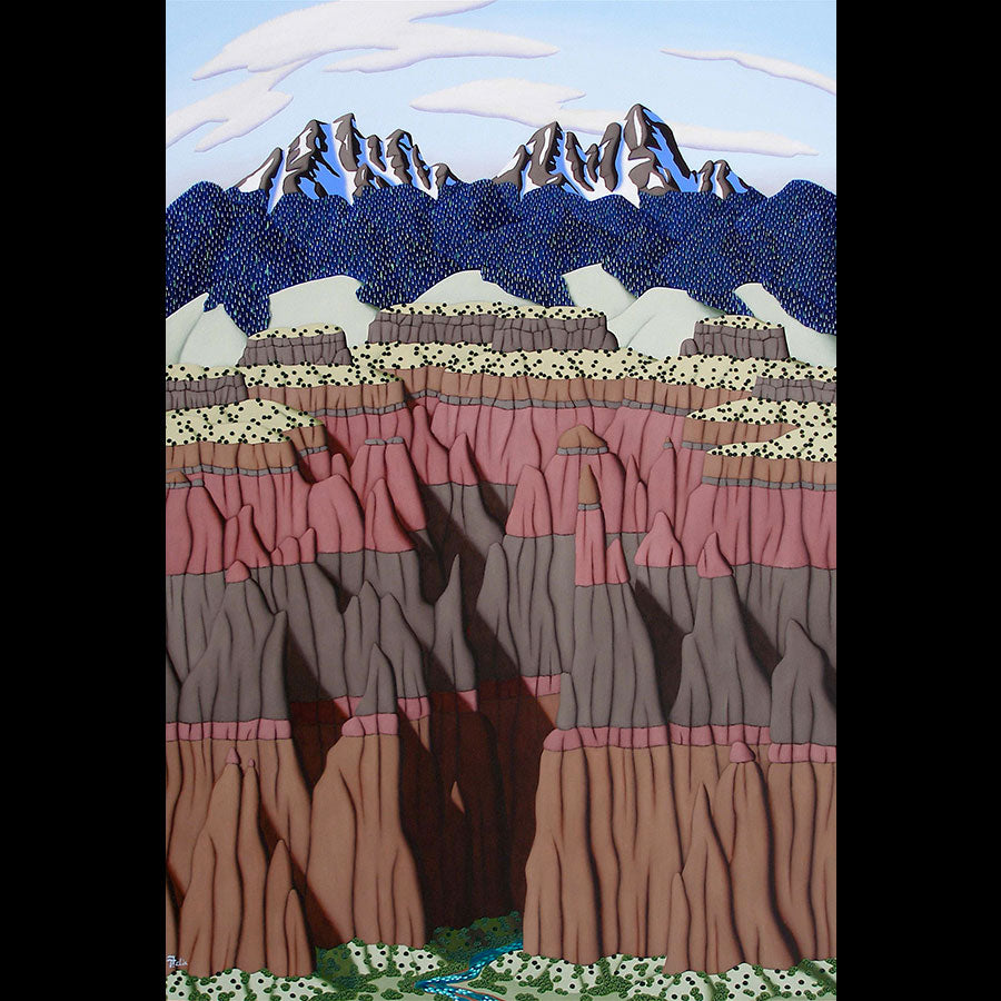 The Canyon original oil on panel landscape painting by Denver Colorado artist Tracy Felix