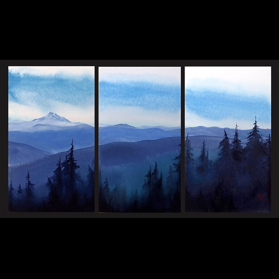 THE MOUNTAINS ARE CALLING... and I must go mountain painting Kay Stratman