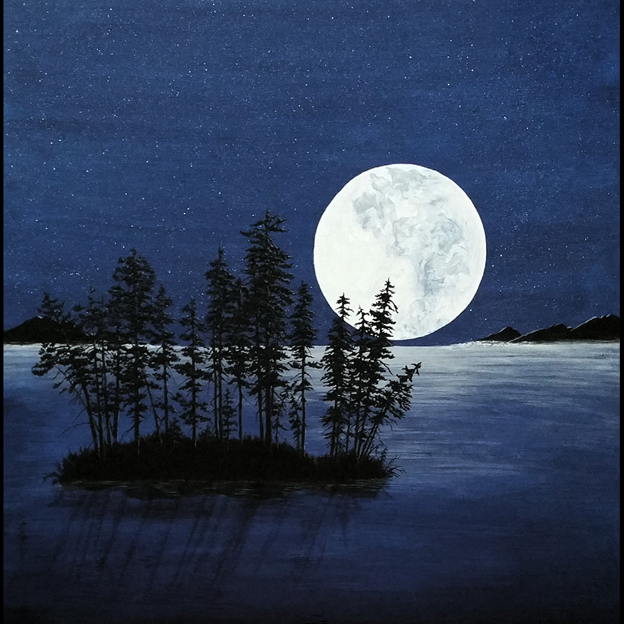This Full Wolf Moon Painting by artist Kate McCavitt