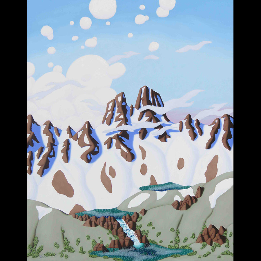 Three Alpine Lakes Painting by Artist Tracy Felix