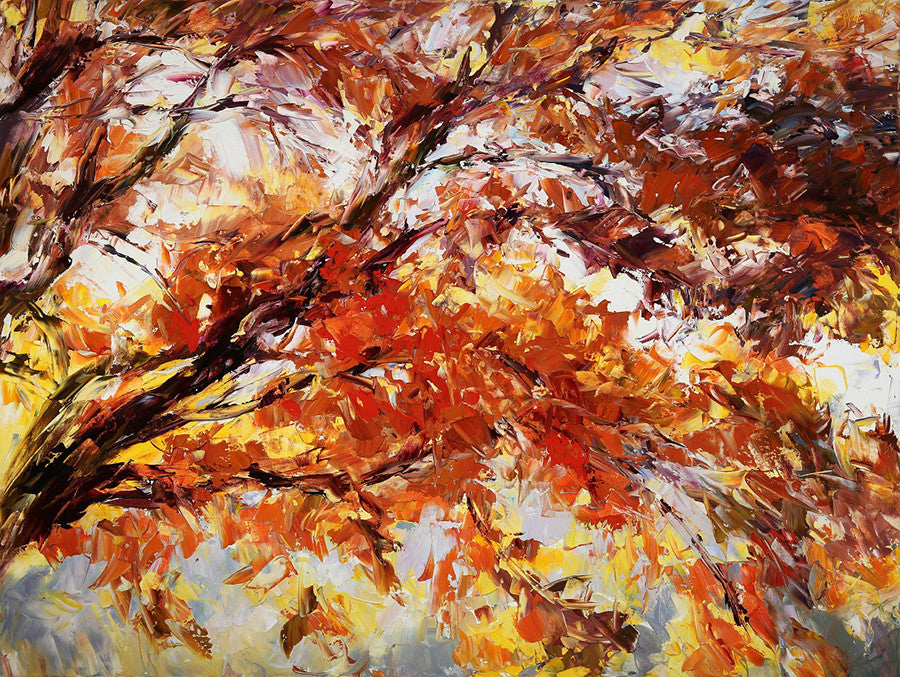 fall tree painting by Lyudmila Agrich