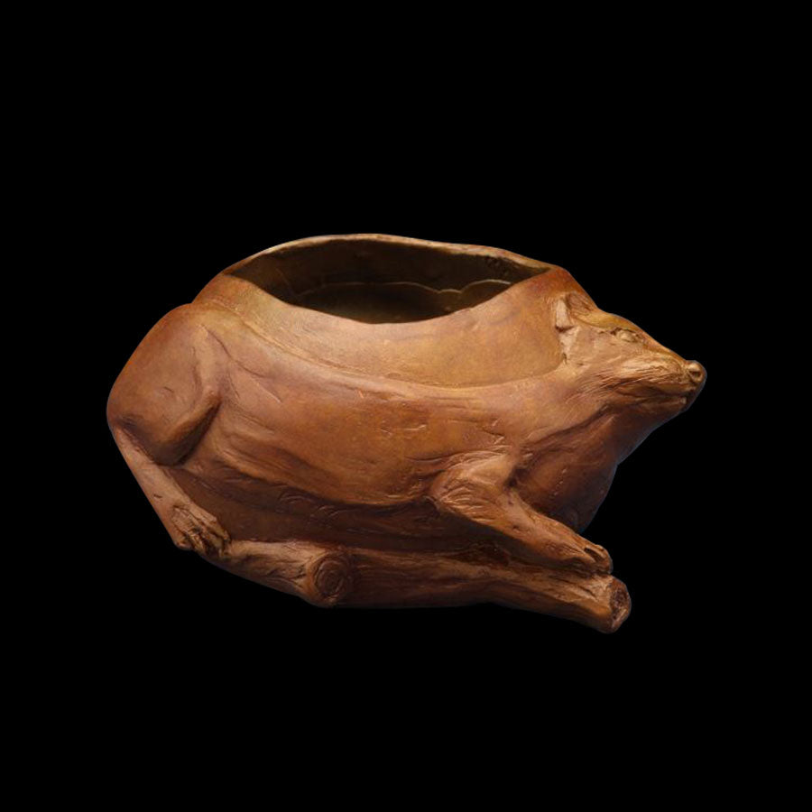 Weasel vessel by artist James G. Moore