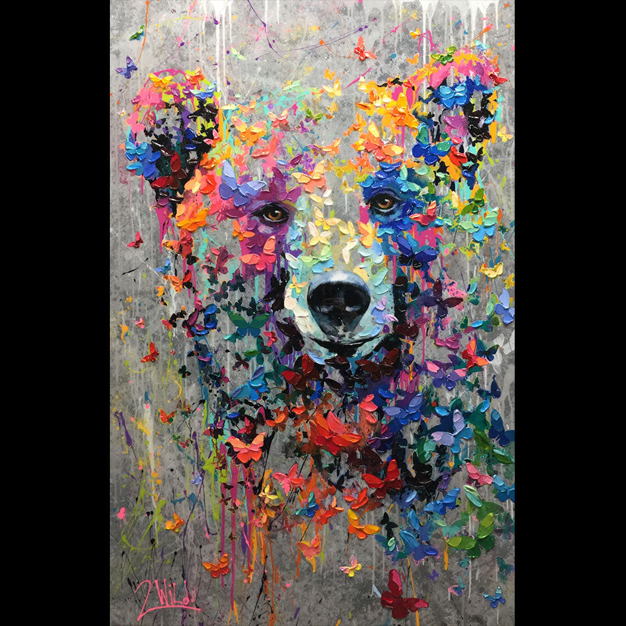 Wild Look original bear painting by artist Barak and Miri Rozenvain 2Wild