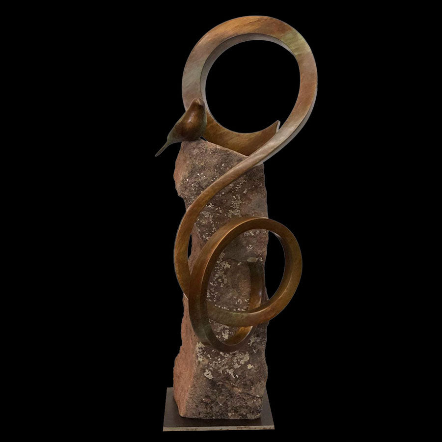 Wind Song original bronze sculpture by Santa Fe New Mexico based artist Gilberto Romero