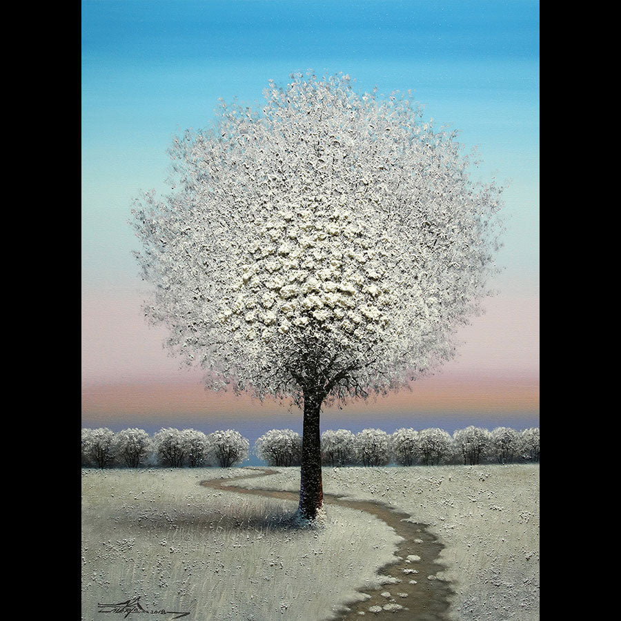 Winter Morning original oil on canvas landscape painting by artist Mario Jung