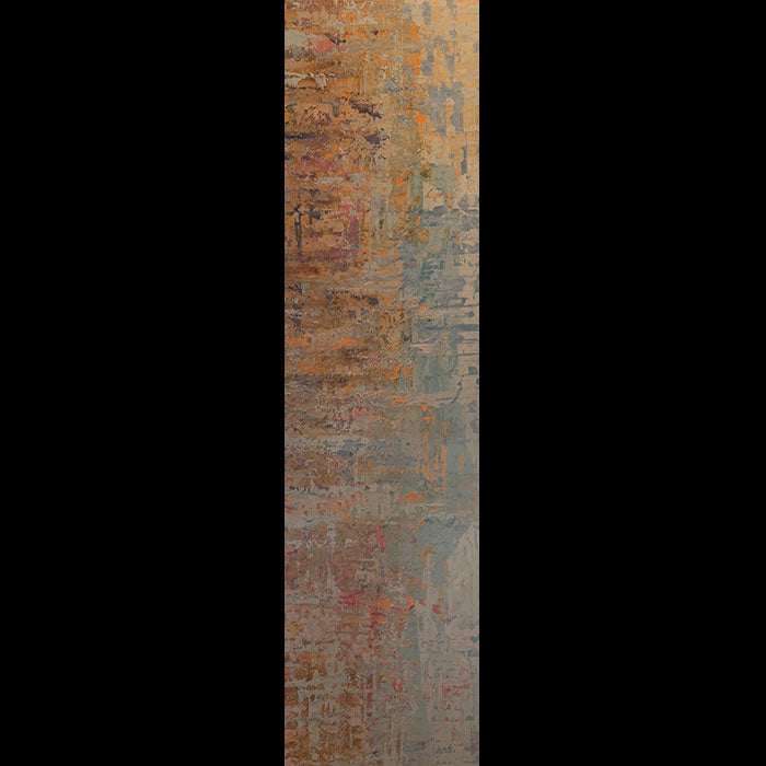 Yellow River original abstract oil painting by Colorado based artist Kristof Kosmowski