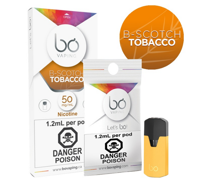 B-Scotch Tobacco BO Vape Pods - PodVapes US