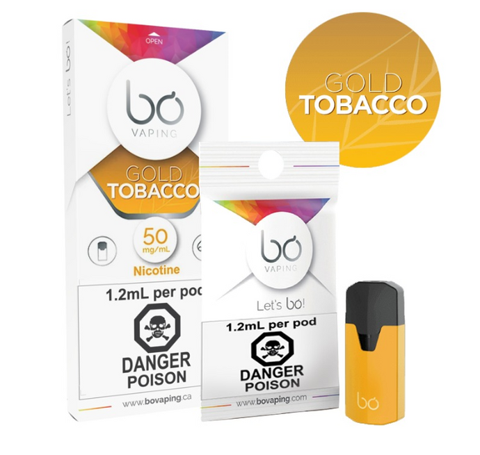 Gold Tobacco BO Vape Pods - PodVapes US