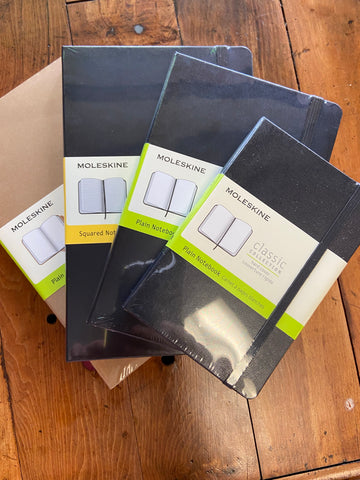 Moleskine Classic Collection, 5 x 8.25 Black Squared