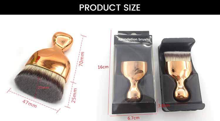 Racket Shape Beveled Foundation Brush