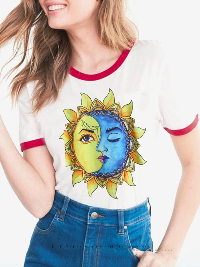 Stranger Things Series Top Fashion O Neck Cartoon Print T-shirt