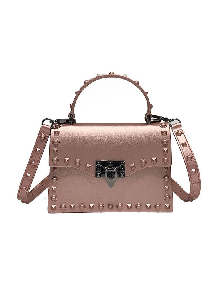Lady Handbag Women Solid Rivet Flap Fashion Messenger Bag