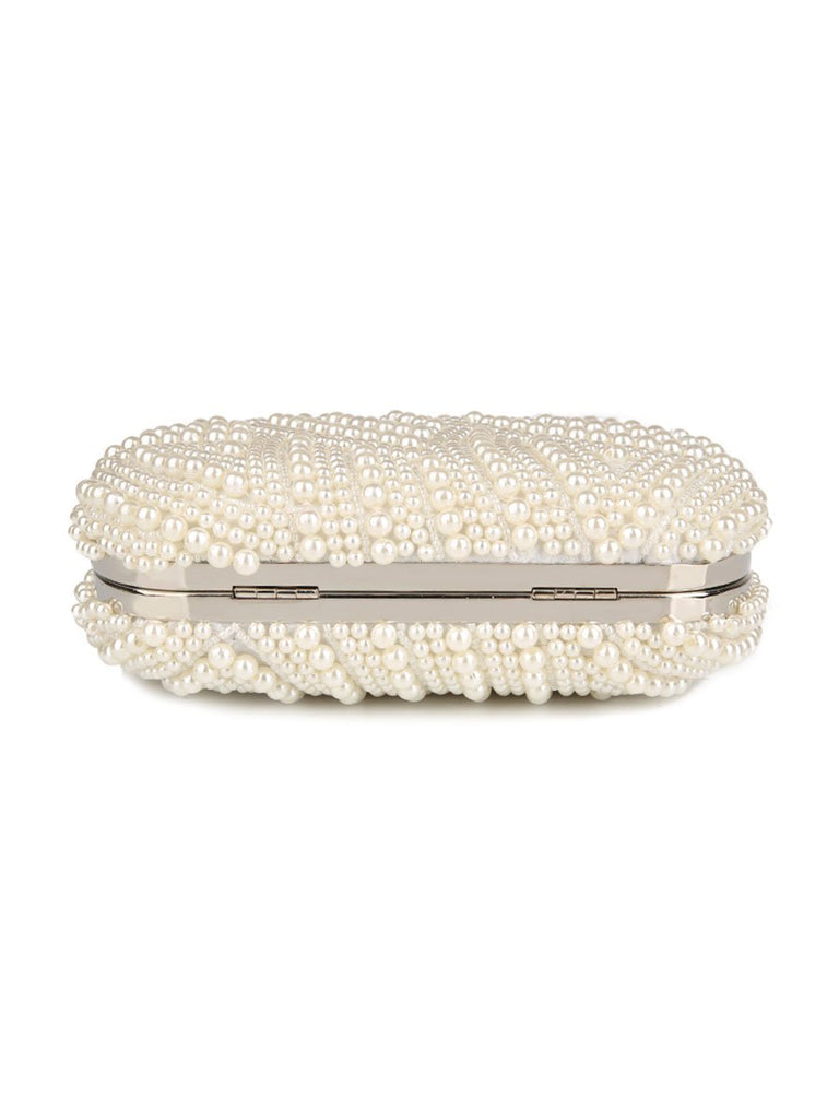 Evening Purse Hand Made Luxury Pearl Clutch Bag