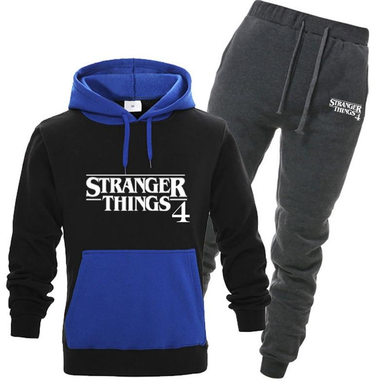 Stranger Things 4 Sweatshirts And Sweatpants Hoodies Tracksuit Suit
