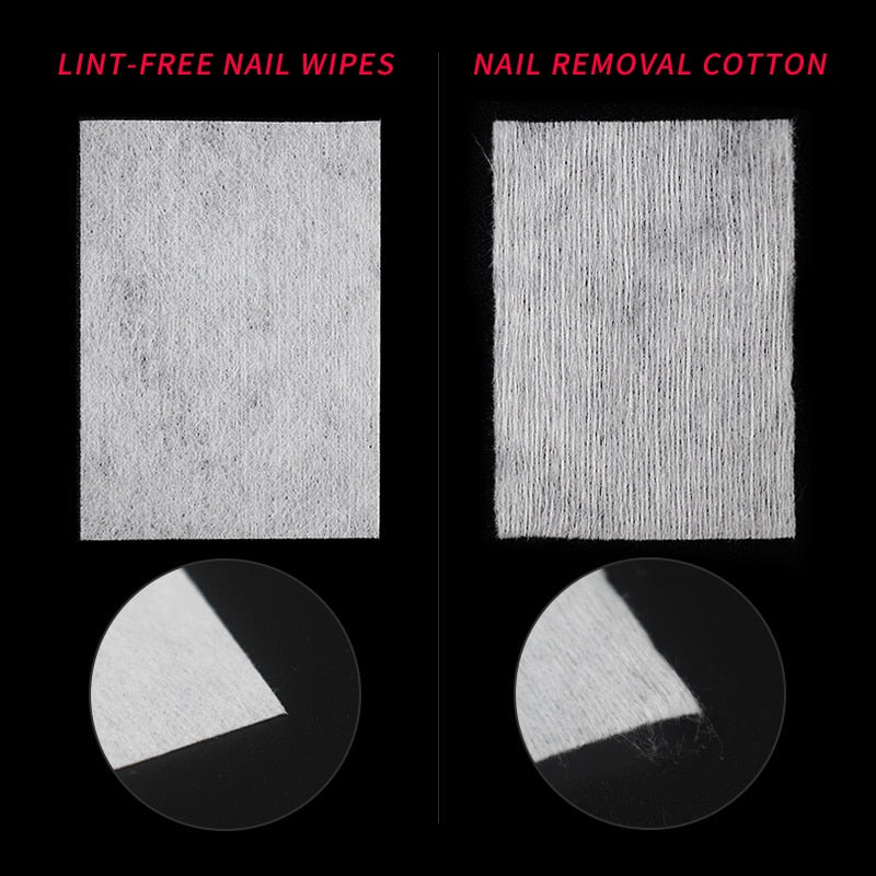 100Pcs Lint-Free Nail Wipes Napkin For Manicure Nail Gel Polish Removal Wraps Cotton Nail Polish Remover Nail Art Tools